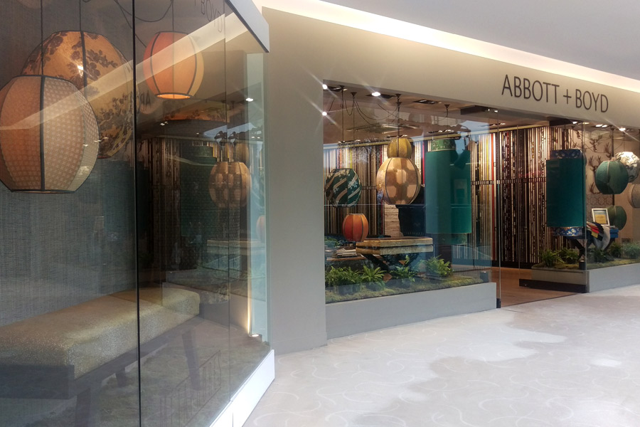 The Abbott & Boyd Showroom Window Display