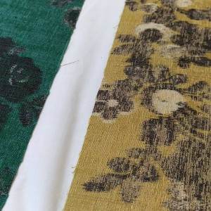 Fabric samples for the Abbott & Boyd lampshades.