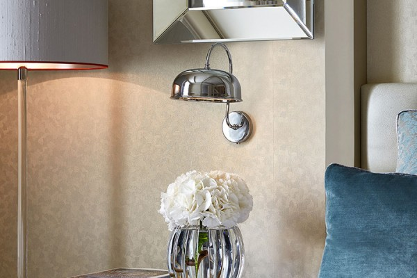 Silk Lampshade for Berkeley Chelsea Suites by Robert Angell International in collaboration with A Shade Above