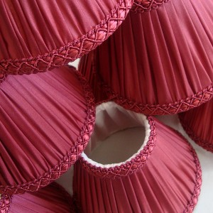 Stage circle lampshades ready for installation at The Royal Opera House.