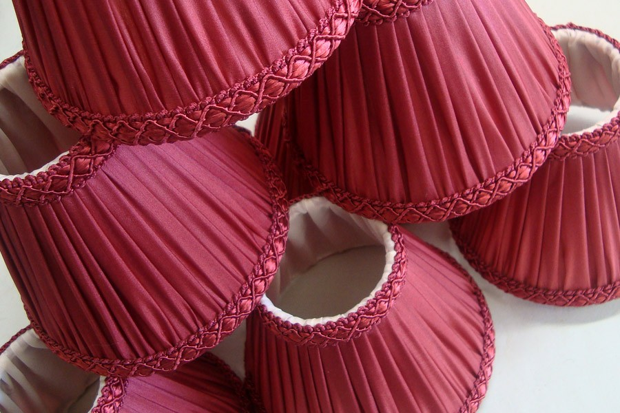 Stage circle lampshades ready for installation at The Royal Opera House
