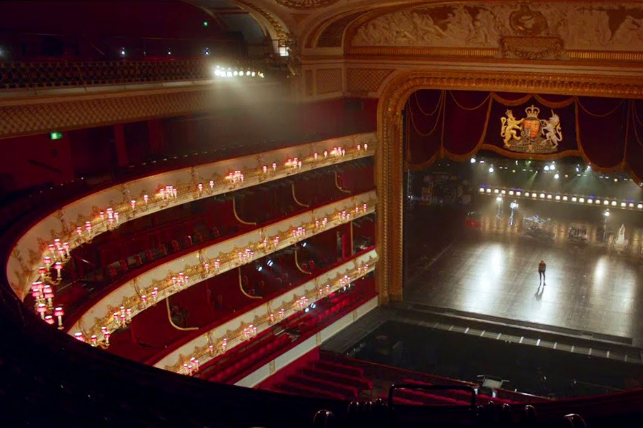 The Royal Opera House with A Shade Above lampshades
