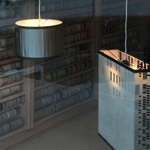 Box pendant lampshades for Samuel & Sons.