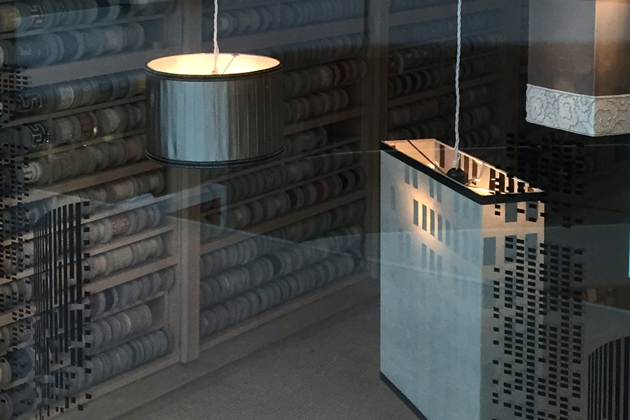 Box pendant lampshades for Samuel & Sons