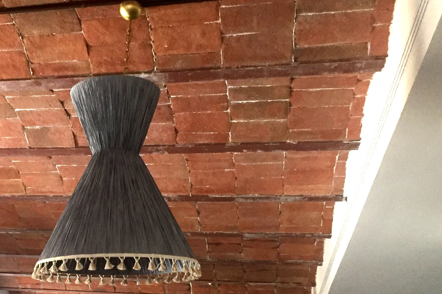 Trimmed detail for lampshades at Soho House Barcelona.