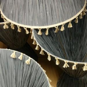 Lampshades ready to install at Soho House Barcelona.