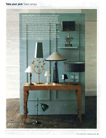 Telegraph Magazine – Table Lamps