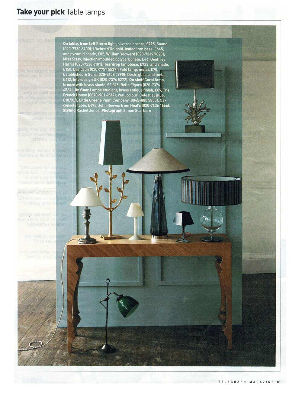 Telegraph Magazine Table Lamps A Shade Above # Photo Table Tele