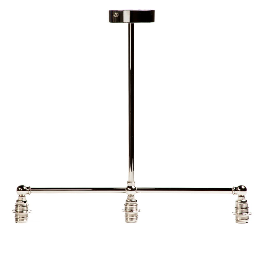 Pendant Chandelier Three Prong Straight Fixture Front View