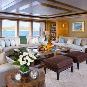 Lounge on the Motor Yacht Lady Britt POD Interior Style