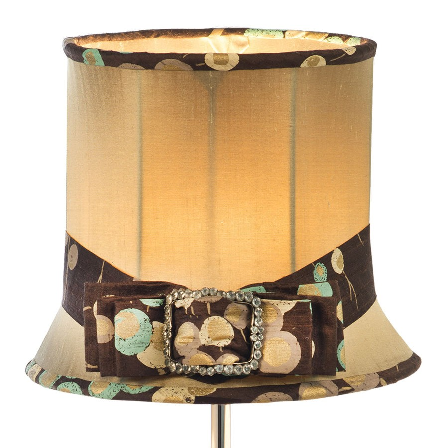 'Ellie' top hat and bow lampshade