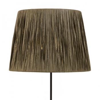 Natural raffia wrapped lampshade