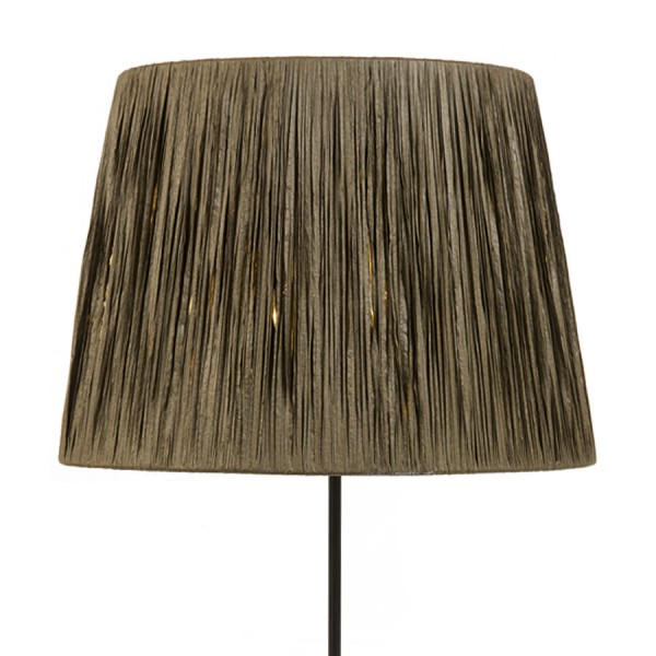 Natural raffia wrapped lampshade