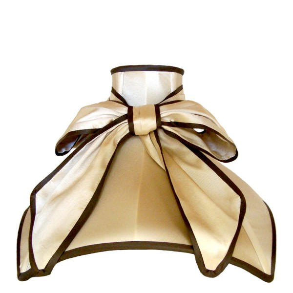 Cream and black satin 'Audrey' with bow lampshade