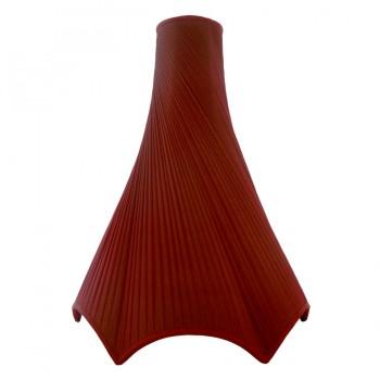 Diagonnally pleated burgundy chiffon silk, bowed ceiling lampshade