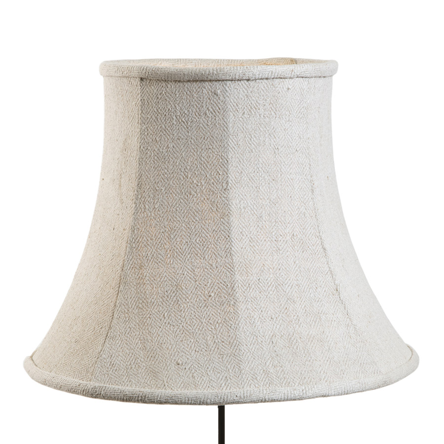 Vintage linen stretched bowed lampshade