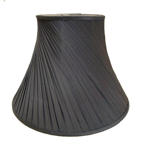 Grey silk twist pleat lampshade