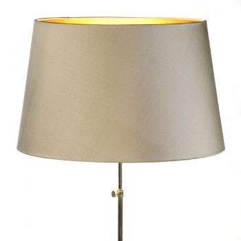 Laminated gold lampshade with shiny gold interior