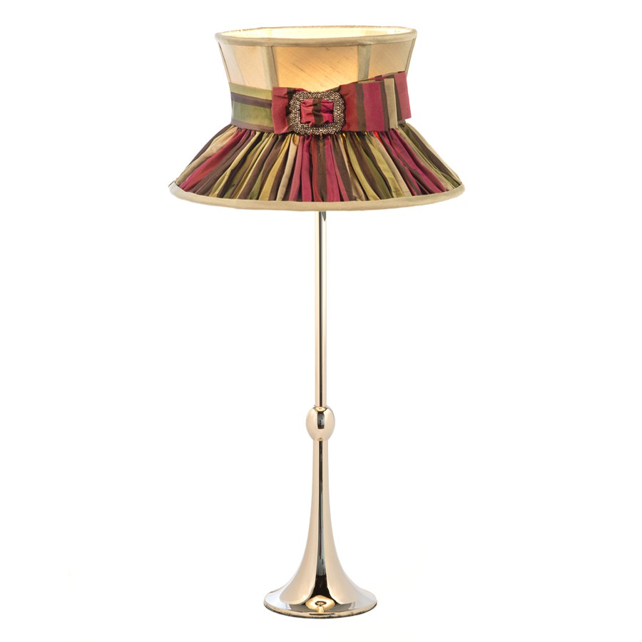'Rita' hat and buckle lampshade