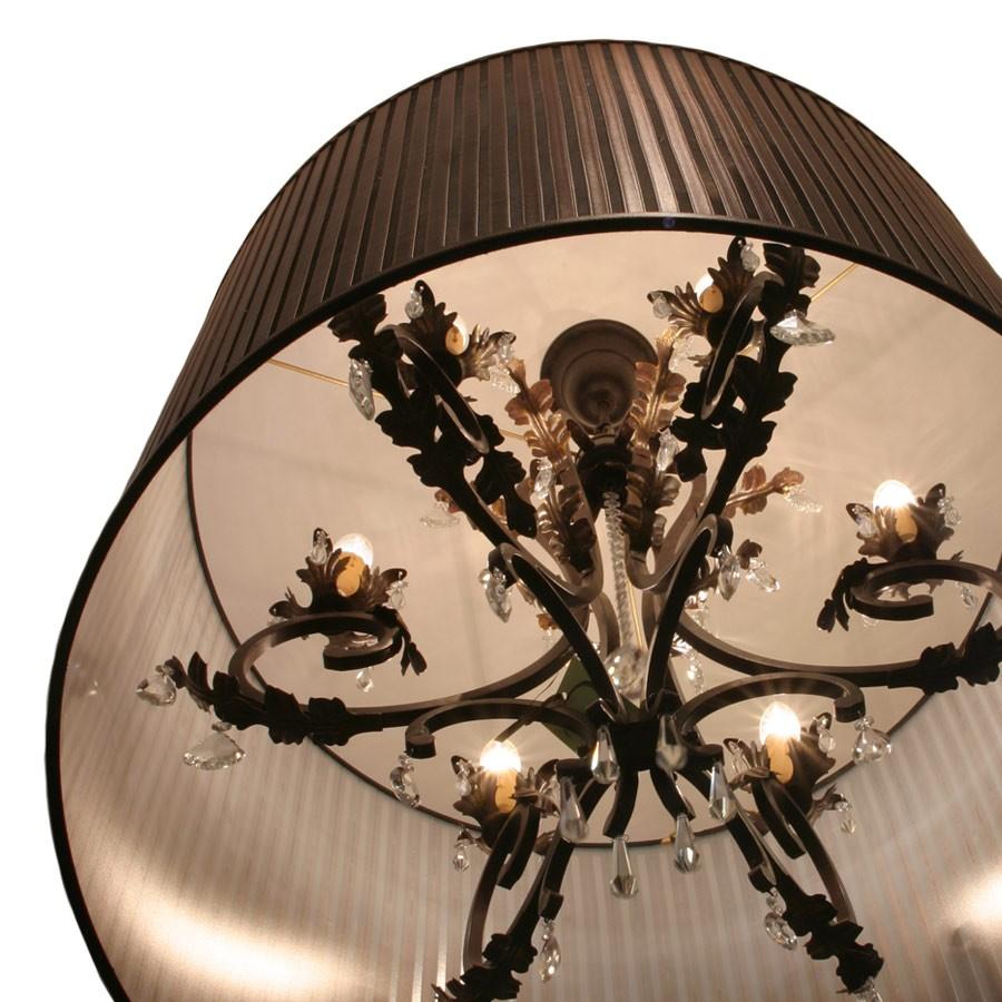 Brown Abbott & Boyd leather drum lampshade