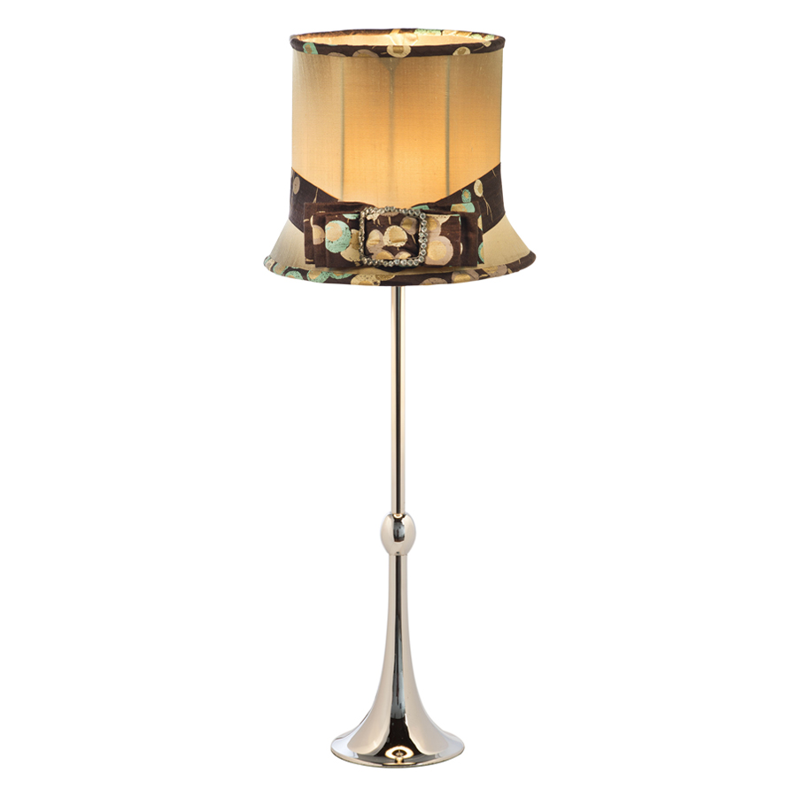 'Ellie' Top hat and lampshade with 'Regency' lamp base