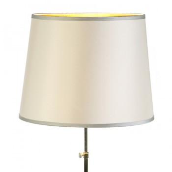 Round cream laminated lampshade with contrast trim