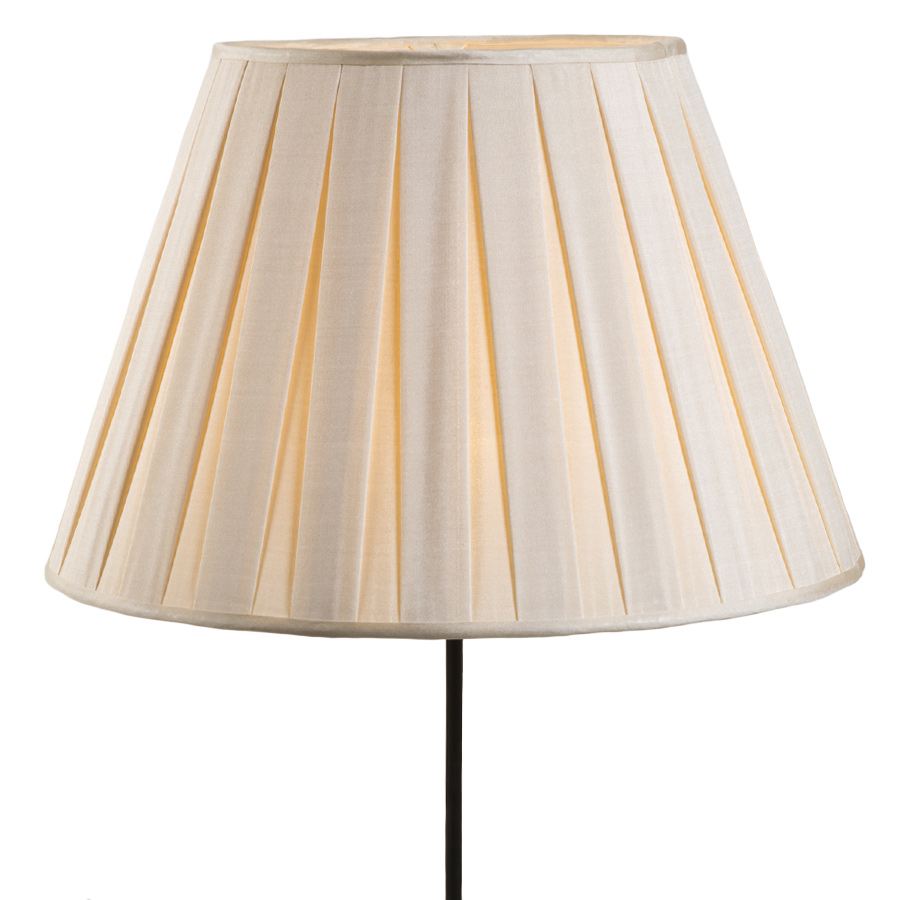 Cream box pleated lampshade
