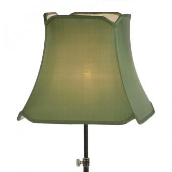 Green honan silk pagoda lampshade