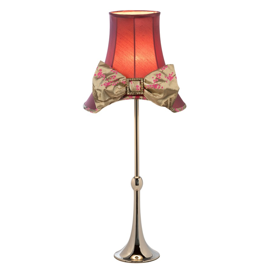 'Valerie' Pink hat and bow lampshade with 'Regency' lampshade