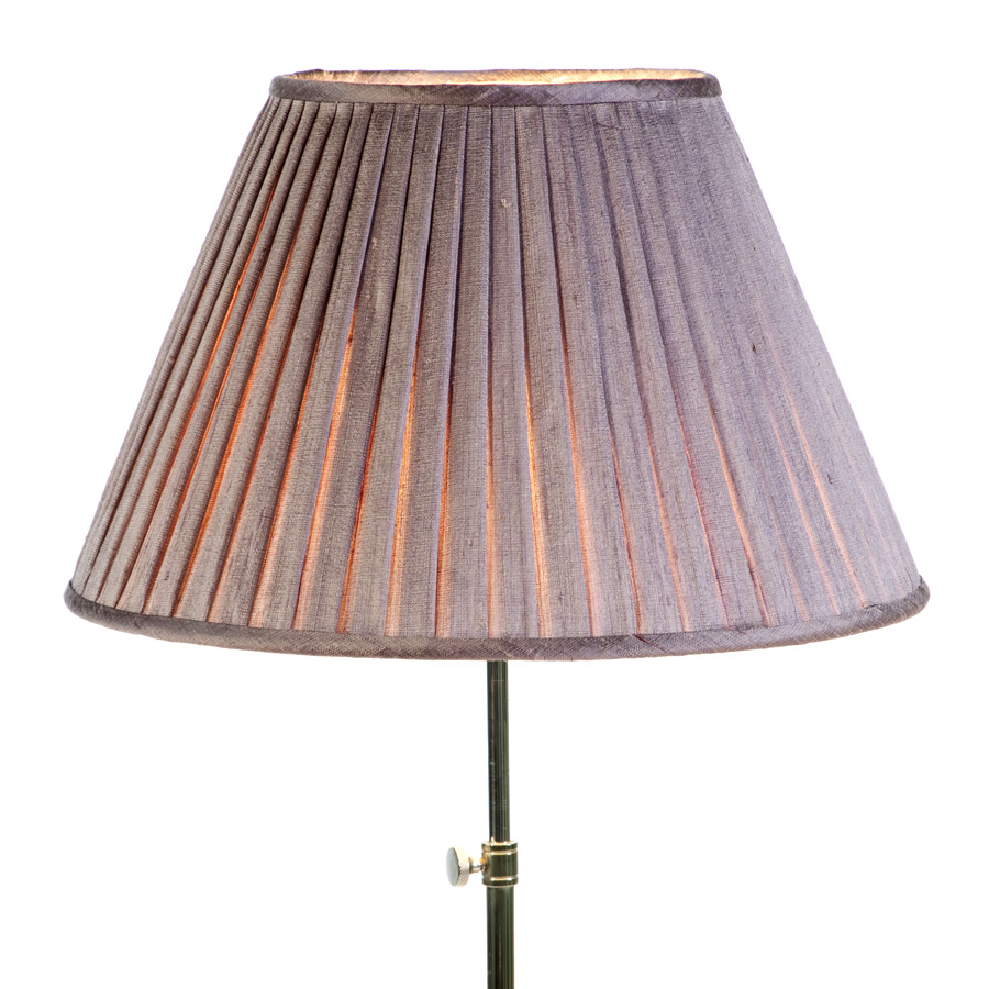 Lilac knife pleated silk lampshade