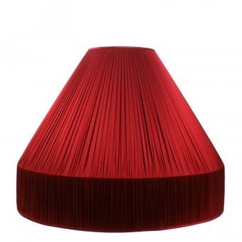 Large pleat gathered ceiling lampshade with gallery