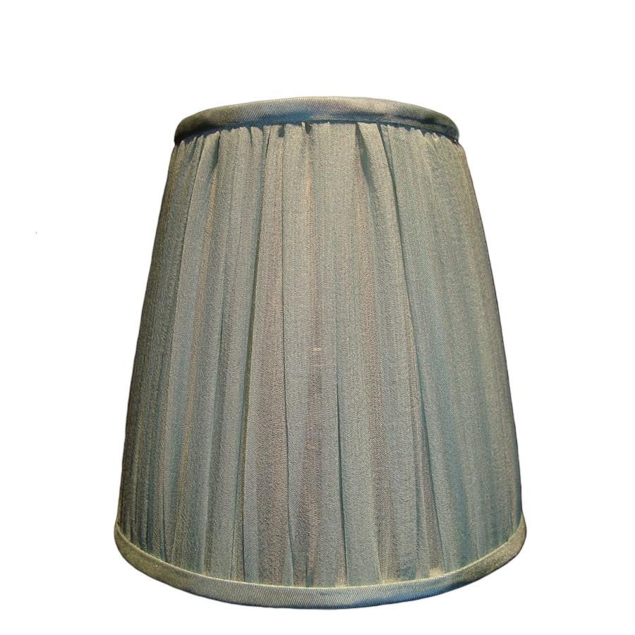 Small green silk organza gathered lampshade