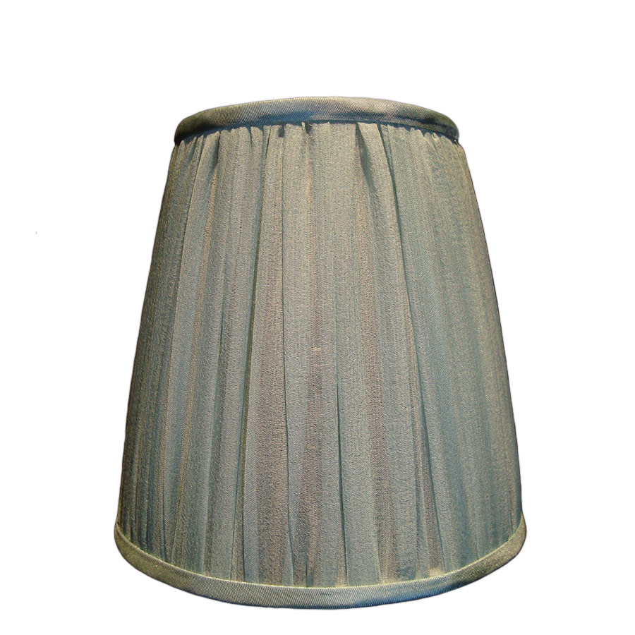Small green silk organza gathered lampshade