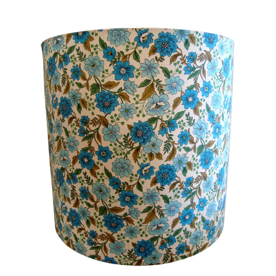 Vintage Kath Kidston fabric laminated drum lampshade