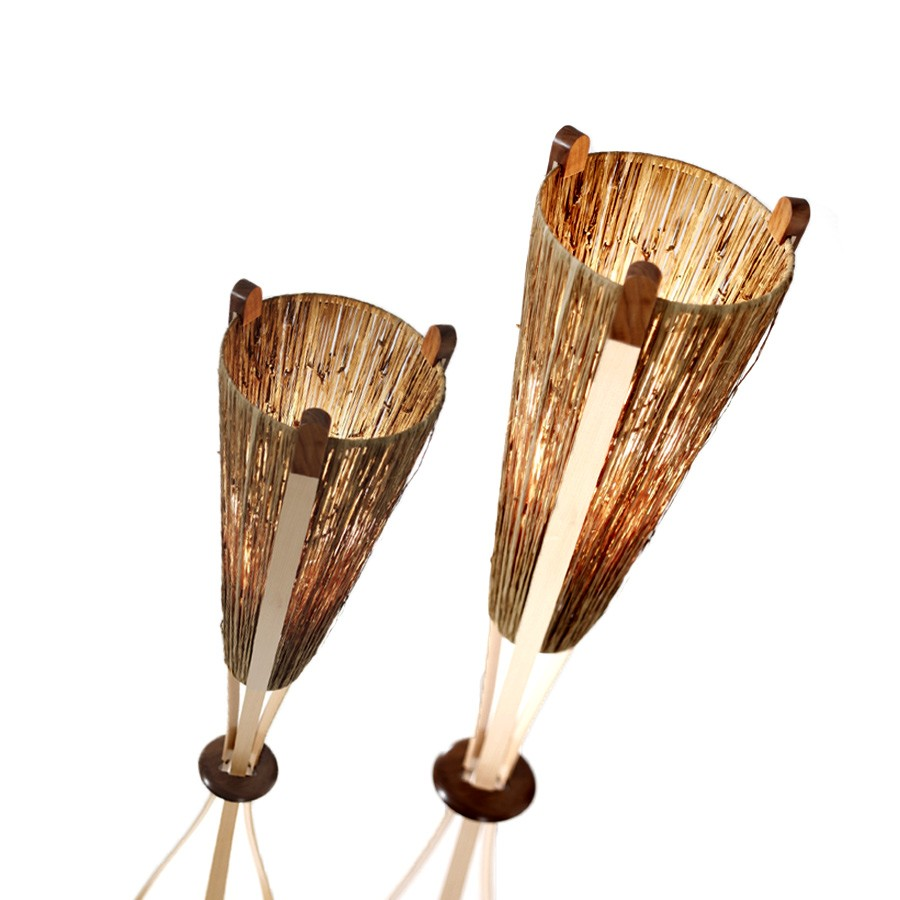 Raffia lampshades to fit existing lamps