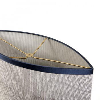 Top view of the laminated almond-shaped drum lampshade