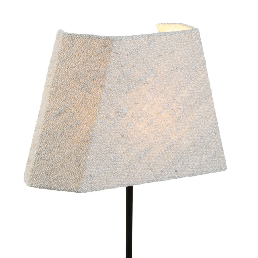 Cream textured linen special half wall light lampshade