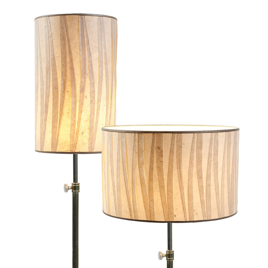 Special handmade paper laminated drum lampshades