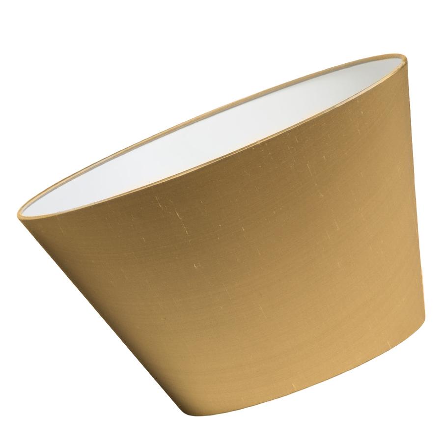 Laminated silk lampshade with white interior