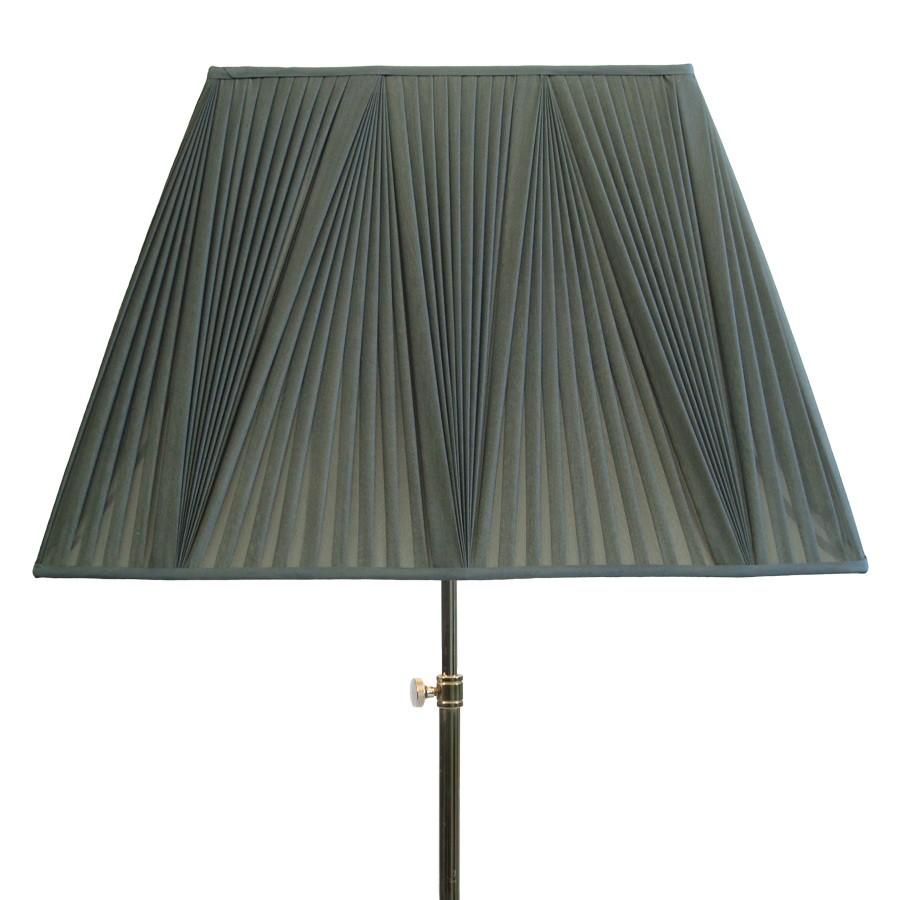 Grey reverse pleat handmade tapered rectangle lampshade