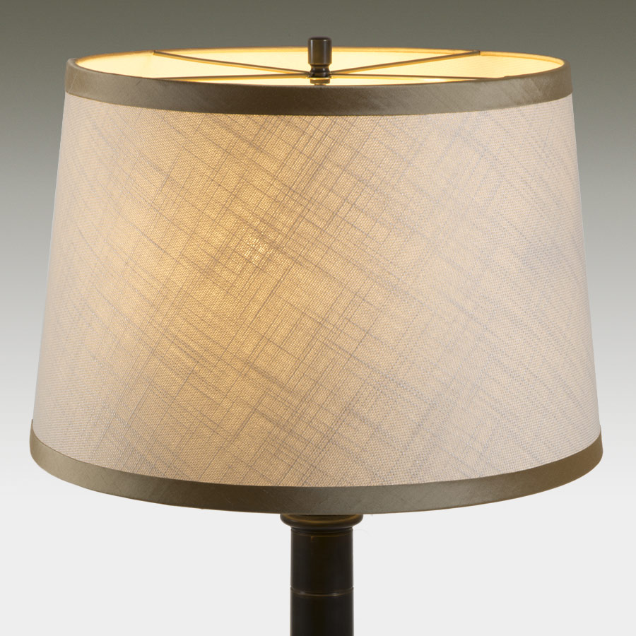 Laminated open weave linen lampshade