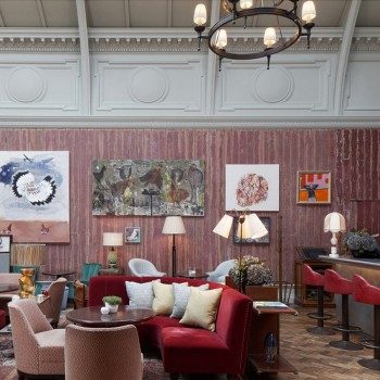 Ecclectic collection of lampshades – The Academicians, London