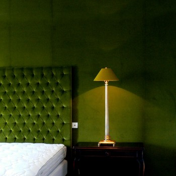 Laminated coolie bedside lampshade