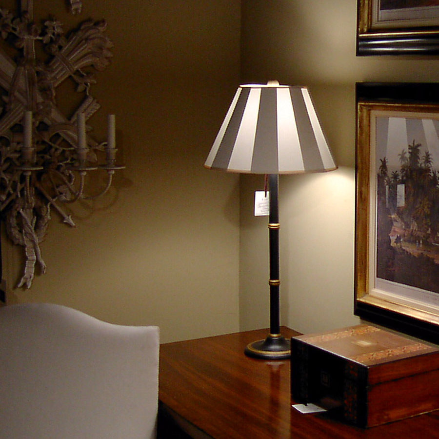 Faux box pleat white lampshade