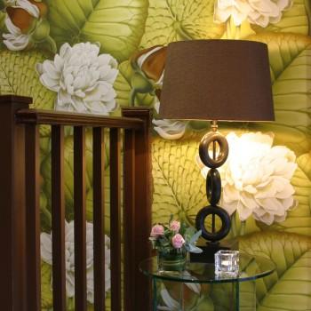 Brown laminated lampshade
