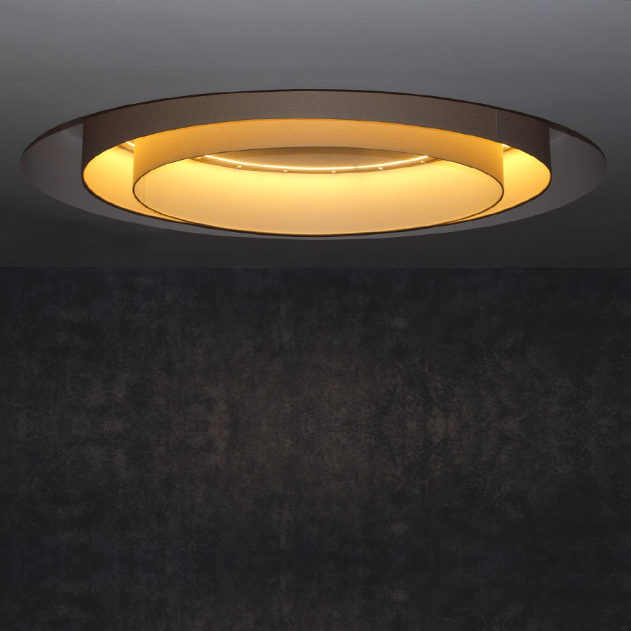Concentric ceiling drum lampshades