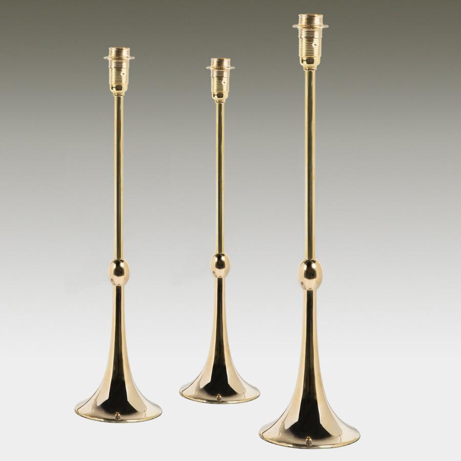 Bespoke Lampshade Base in Brass, Nickel or Blackened Bronze