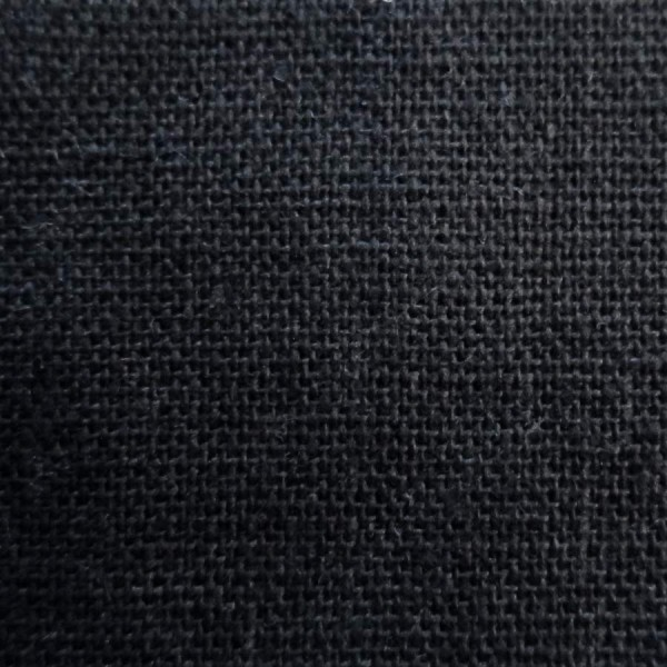 India Black Silk Linen Mix