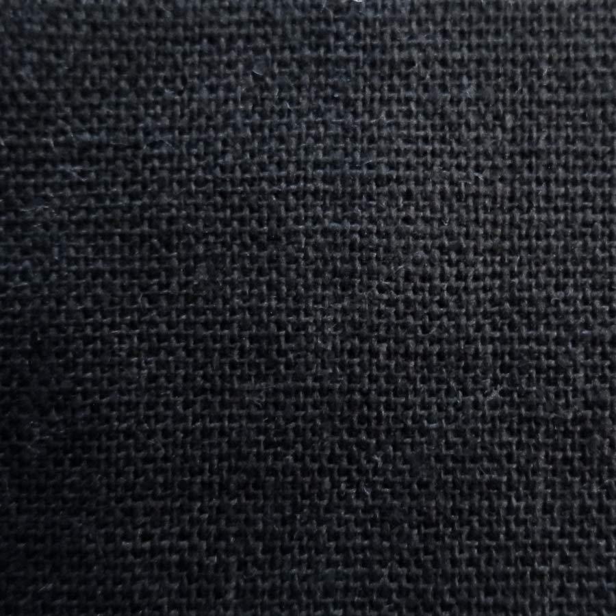 India Black Silk Linen Mix