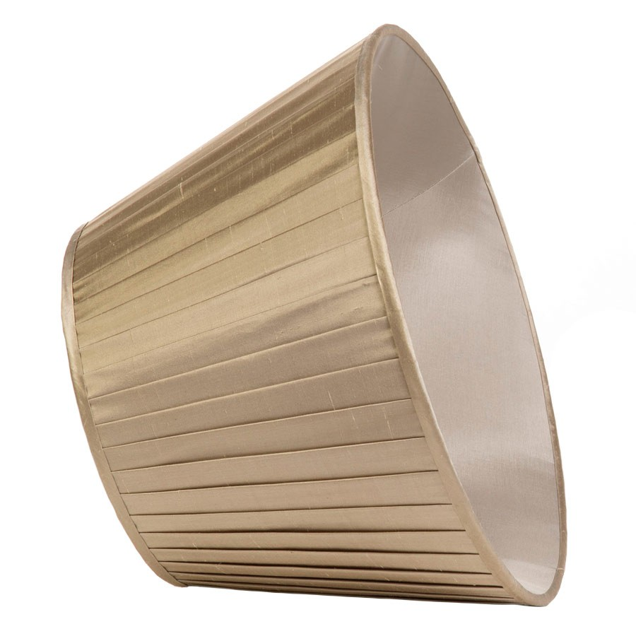Classic Pembroke Lampshade Knife-Pleat in Pebble Silk